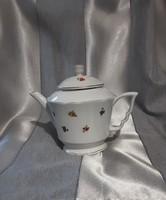 Zsolnay, antik, arany díszes, virágmintás teás kanna, kancsó, kiöntő, eredeti, jelzett