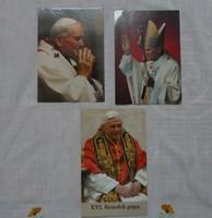 Vallási kép, fotó: Pápák – II. János Pál, XVI. Benedek