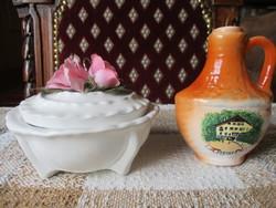 Rózsás bonbonier + Jósvafői emlék váza