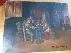 """Németalföldi festő """"Kártyajátékosok"""""""