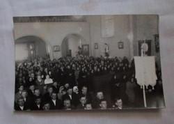 Retro fotó 4.: régi egyházi fénykép, Baja (szentmise)