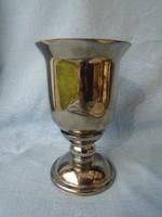 Bieder foncsorozott huta üveg antik talpas régi kehely vagy kupa  extra különleges és komoly darab