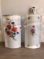 Hollóházi porcelán ritka mintás váza pipacsos hajnalka mintás hollóházi váza