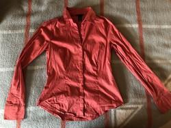 H&M -es sötét korall színű női felső ing blúz