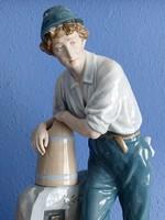 Nagy méretű, 60 cm  Royal Dux porcelán figura F. Otto szignóval hibátlan állapotban!