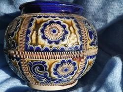 Marzi & Remy Westerwald Keramik kobalt kék, kaspó, váza
