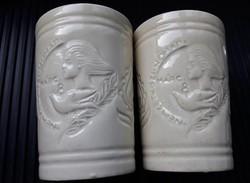 2 db Kispesti Gránit retro pohár, Nőnapi Emlék,  Zahajszky Laszlo tervei alapján