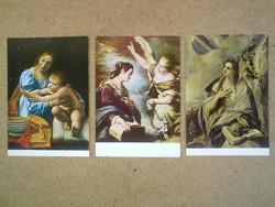 Régi  festmény képeslapok (régi postatiszta képeslap)