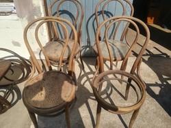 Thonet NR 14 székek 4DB pótlás-restauráláshoz.4db