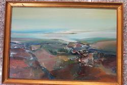 Kárpáti Gusztáv Szatmári dombok festmény