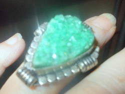 Jade Druzy Kristály köves Gyűrű 8-as