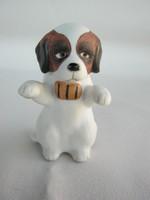Hollóházi porcelán bernáthegyi kutya