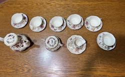 Zsolnay pillangó mintás teás készlet 6 személyes.Kiegészítőkkel