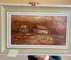 Uzonyi Ferenc - Ősz a tanyán festménye