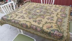 Retro virágos Gyönyörű  szövött ágytakaró takaró, terítő,  asztalterítő nosztalgia darab