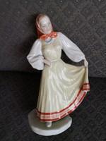 Csodálatos Herendi porcelán - 'Kopogós' táncoló női figura, Donner Gertrúd Mária