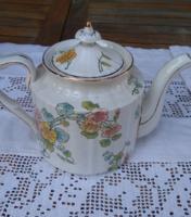 Sarreguemines antik csodálatosan szép porcelán kézzel festett kiöntő, teás-kávés kanna, kancsó