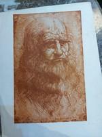 Metszet portré 
