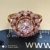 /63/ rose gold gyűrű 925