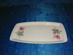 Alföldi porcelán rózsás tálca (6p)