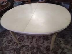 Antik empier kinyitható étkezőasztal 130x100x76cm ami 200cm re nagyobbitható