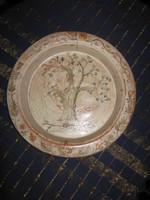 Régi, kerámia tál, tányér, 27,5 cm (34)