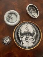 3 db Jurcsak Hollóházi porcelan