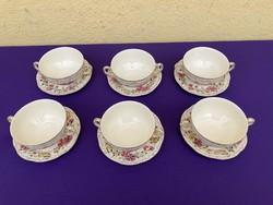 Zsolnay butterfly pattern soup cup 6pcs