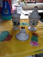 Régi porcelán patika edény,tároló üveg