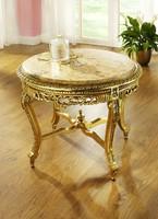 Arany Barokk  Dohányzóasztal márványlappal. Ingyen szállítás Pest megyébe!