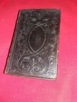 Antik 1850 szlovák nyelvű imakönyv példabeszédtár kemény bőr kötésben a képek szerint