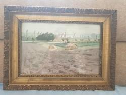 Czene Béla - Vörös földek című festménye eladó!