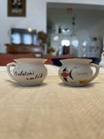 Két darab porcelán bili