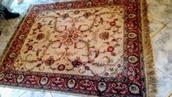 Perzsa mintás bársonyos selymes szőnyeg 180*138 cm