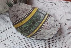 Retro kerámia  kínáló tányér  falidísz Gyűjtői darab, nosztalgia