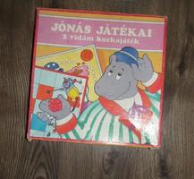 Régi retro játék Jónás játékai 2 vidám kockajáték társasjáték