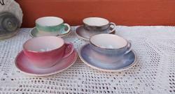 Retro  ritkább Iparművészeti  kávés csésze szettek , Gyűjtői darab, nosztalgia