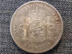 Spanyolország XII. Alfonz (1874-1885) .900 ezüst 5 Peseta 1875 (id46853)