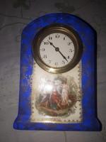 Alt Wien porcelán házas  asztali óra