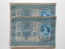 Sorszámkövető, egyszer hajtott 1000 korona 1902