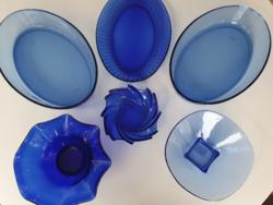 Kék üvegtál csomag - 6 db