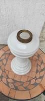 Antik fújt üveg,olaj, làmpa nagy méretű fehér petróleum!,gyüjteménybe, íróasztalra, dekorációnak.