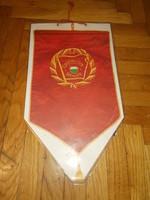 Régi papír szocialista brigád  falidísz zászló