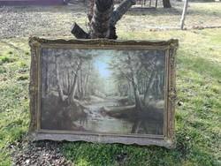 Balagh András csodálatos tájképe 80 cm szer 120 cm a kép.