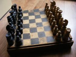 Régi fa sakk készlet 1959-ből