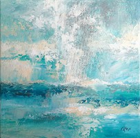 """""""Blowing"""" 50x50cm painting, direct from the artist!"""