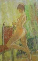 B. HAJDÚ: Akt (pasztell-vegyes 25,5x18 cm) női modell