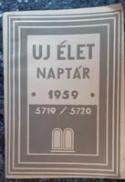 UJ ÉLET NAPTÁR  1959  -   JUDAIKA