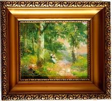 Bernáth Aurél (1895 - 1982) - Pihenő a parkban
