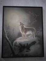 Farkas, litográfiai nyomat